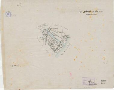 Mapa planimètric de Sant Adrià de Besòs