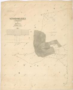Katastrální mapa obce Zdebořice