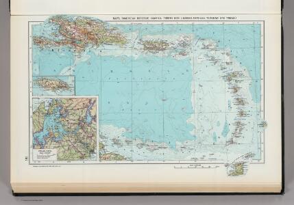 181.  Haiti, Dominican Republic, Jamaica, Puerto Rico Island, Lesser Antilles, Trinidad and Tobago, Panama Canal (West Indies).  The World Atlas.