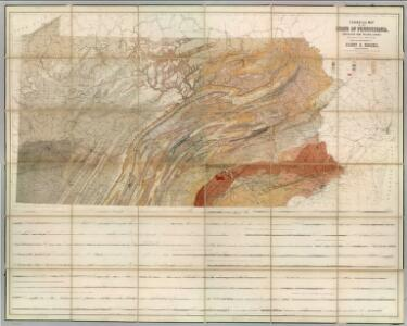 Geological Map Of The State Of Pennsylvania.