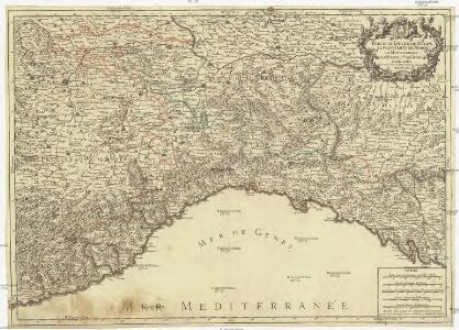 Partie du duché de Milan, la principauté de Piemont, le Montferrat, et la republique de Genes