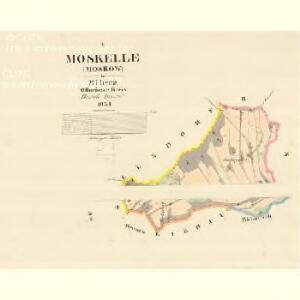 Moskelle (Moskow) - m1889-1-001 - Kaiserpflichtexemplar der Landkarten des stabilen Katasters