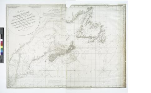 The coast of Nova Scotia, New England, New-York, Jersey, the Gulph and River of St. Lawrence, the islands of Newfoundland, Cape Breton, St. John, Antecosty, Sable, &c., and soundings thereof ... / by Jos. F.W. Des Barres Esqr., MDCCLXVIII.