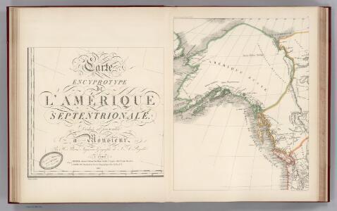Facsimile:  Brue's North America (portion).