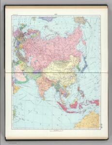 105-106.  Asia, Political.  The World Atlas.