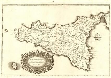Carte Geographique de l'Isle de Royaume de Sicile nouvellement corrigèe et augmentèe