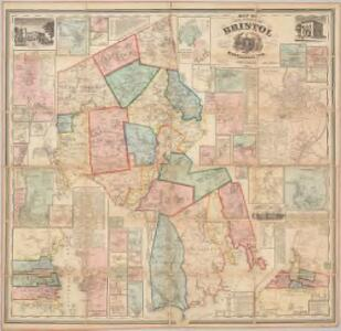 Map of the county of Bristol, Massachusetts : based upon the trigonometrical survey of the state