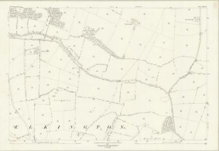 Northamptonshire XXII.16 (includes: Cold Ashby; Elkington; Stanford; Welford) - 25 Inch Map