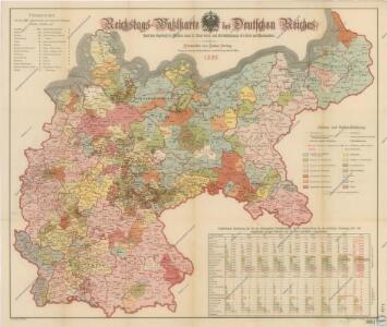 Reichstags Wahlkarte des Deutschen Reiches