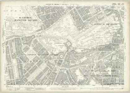 London (Edition of 1894-96) LXXV (includes: City Of Westminster) - 25 Inch Map