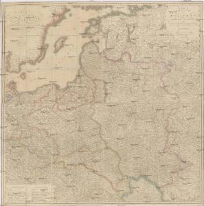 Carte von Polen und einen grossen Theil der angrenzenden Laender