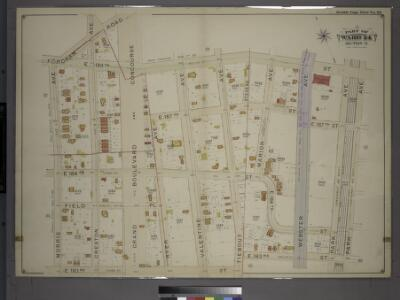 Double Page Plate No. 28, Part of Ward 24, Section 11. [Bounded by Fordham Road, Grand Boulevard and Concourse, E. 189th Street, Park Avenue, E. 183rd Street and Morris Avenue.]