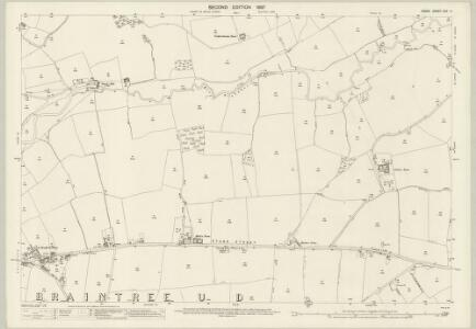 Essex (1st Ed/Rev 1862-96) XXV.11 (includes: Braintree and Bocking; Stisted) - 25 Inch Map