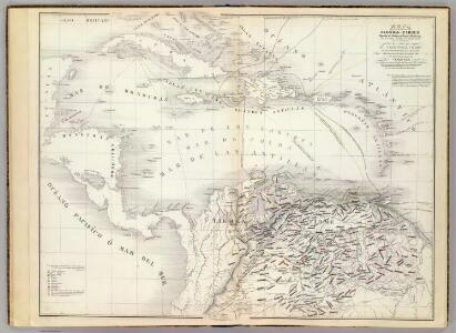 Mapa de las costas de Tierra-Firme.