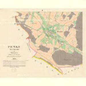 Penke (Benkow) - m0050-1-002 - Kaiserpflichtexemplar der Landkarten des stabilen Katasters