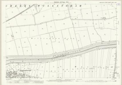 Lincolnshire LXXI.5 (includes: Cherry Willingham; Fiskerton; Greetwell; Washingborough) - 25 Inch Map