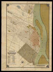 Ciudad del Rosario : ensanche y puerto aprobados / construido y publicado por los agrimensores Warner y Pusso
