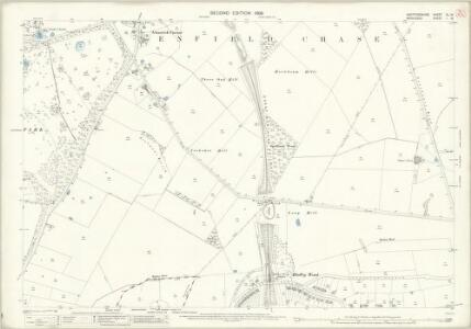 Hertfordshire XL.16 (includes: Enfield St Andrew; Monken Hadley; South Mimms) - 25 Inch Map