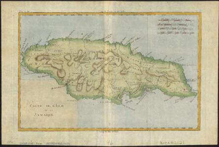 Carte de l'isle de la Jamaïque