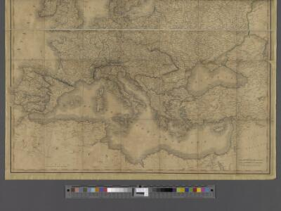 A new map of Europe exhibiting its natural and political divisions drawn from the most recent materials