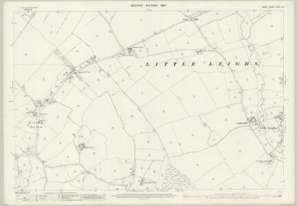 Essex (1st Ed/Rev 1862-96) XXXIII.12 (includes: Great and Little Leighs; Great Waltham) - 25 Inch Map