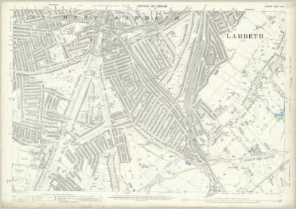 London (Edition of 1894-96) CXVI (includes: Camberwell; Lambeth St Mary) - 25 Inch Map