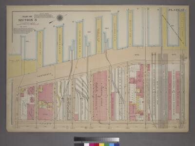Plate 17, Part of Section 3: [Bounded by W. 32nd Street, Eleventh Avenue, W. 23rd Street and (Hudson River Piers) Thirteenth Avenue.]