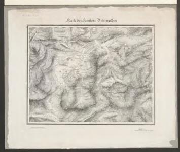 Karte des Kantons Unterwalden