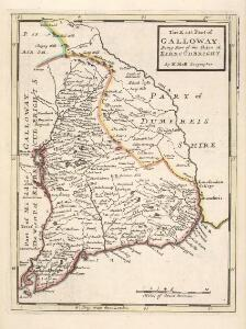The East Part of Galloway : being Part of the Shire of Kirkcudbright / by H. Moll.