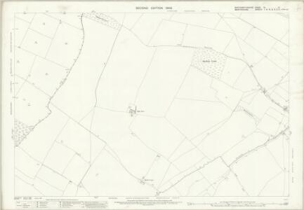 Northamptonshire XL.8 (includes: Chelveston Cum Caldecott; Dean and Shelton; Melchbourne and Yelden) - 25 Inch Map