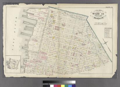 Plate 22: Bounded by N. 14th Street, Fifth Street, Union Avenue, N. 2nd Street, Third Street, N. 1st Street, River Street, N. 3rd Street and (East River) First Street.