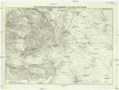 Übersichts Karte der Umgebung von Ofen und Pesth