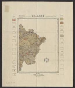 Indo-Chine. Carte géologique provisoire. Flle N 10, Ha-Lang