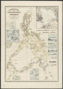 Reduzirte Karte von den Philippinen und den Sulu-Inseln