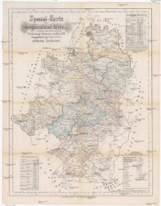 Special-Karte des Jungbunzlauer Kreis resp. politi. Verwaltungsbezirkes