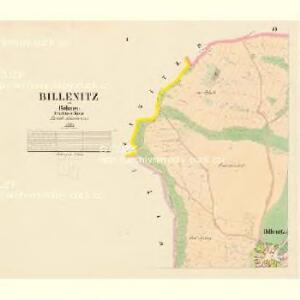 Billenitz - c0221-1-001 - Kaiserpflichtexemplar der Landkarten des stabilen Katasters