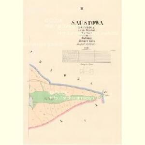 Saustowa - c7153-1-003 - Kaiserpflichtexemplar der Landkarten des stabilen Katasters