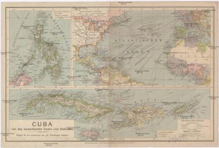 Cuba mit den benachbarten Inseln und Gebieten