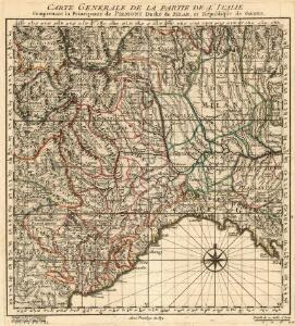 Carte Generale de la Partie de l'Italie Comprenant la Principauté de Piemont Duché de Milan et République de Genes
