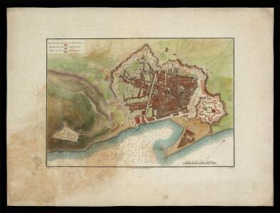 Plano de la ciudad y puerto de Barcelona