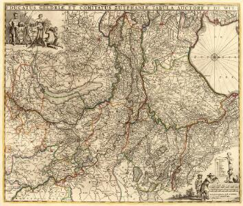 Ducatus Geldriae, Et Comitatus Zuphaiae, Tabula
