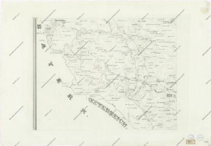 Topographische Karte ... Herrschaft Krummau ...