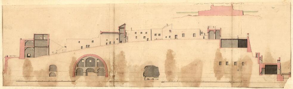 Naples. Plan et profil du Chateau de l'ocuf