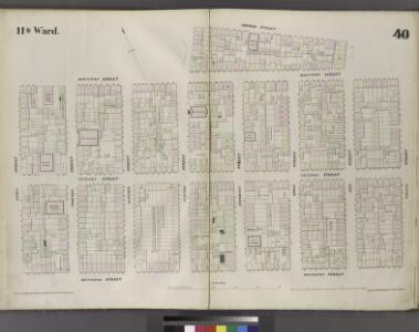 Plate 40: Map bounded by Houston Street, Avenue B, Second Street, Pitt Street, Houston Street, Willet Street, Rivington Street, Essex Street.