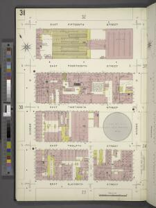 Manhattan, V. 2, Plate No. 31 [Map bounded by E. 15th St., Avenue D, E. 11th St., Avenue C]