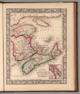 County map of Nova Scotia, New Brounswick, Cape Breton Id. and Pr. Edward's Id.