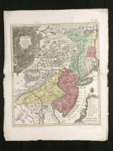 Pensylvania Nova Jersey et Nova York cum Regionibus ad Fluvium Delaware in America sitis