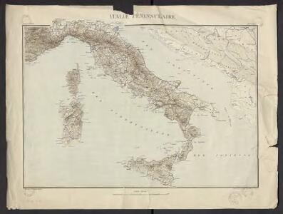 Géographie. croquis n2, Italie péninsulaire