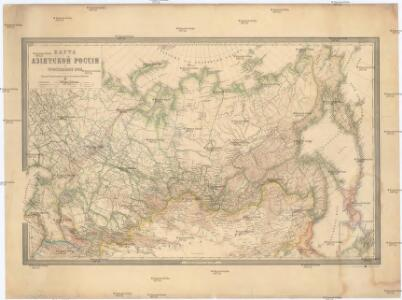Karta azijatskoj Rossii i turkestanskago kraja