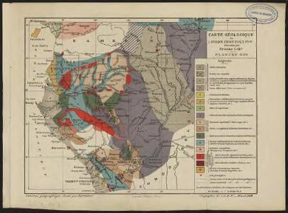Carte géologique de l'Afrique équatoriale française. Planche sud